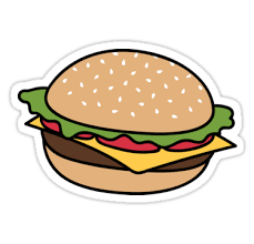 Hamburger Redbubble Stickers Stickers Hamburger Redbubble Stickers Cikartma Yapiskan Yazdirilabilir Planlayici Cikartmalari