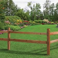 Unbranded 3 In X 6 In X 11 Ft Cedar Tone Pressure Treated Wood Poplar Split Fence Rail 175558 The Home Depot