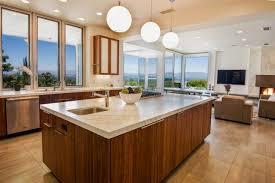 kitchen with globe pendant lights