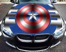 Vinyl Car Hood Wrap Full Color Top Graphics Decal Captain America Shield Sticker Ebay