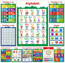Amazon Com 11 Educational Posters For Toddlers And Kids Perfect For Children Preschool Kindergarten Classroom Decorations Alphabet Abc Poster Numbers Colors Homeschool Supplies 13x19 Non Laminated Office Products