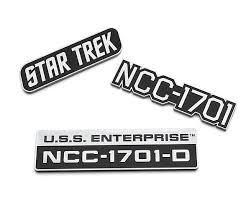 Star Trek U S S Enterprise Car Emblems Star Trek Car Decals Star Trek Auto Star Trek Enterprise Car Star Trek Logo