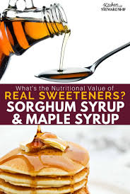 sorghum maple syrup benefits and