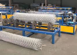 Low Noise Chain Link Fence Weaving Machine High Working Efficiency