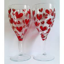 creative painting of wine glasses
