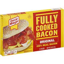 oscar mayer fully cooked bacon ptacek