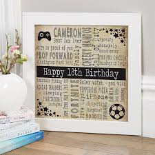 18th birthday gifts present ideas for