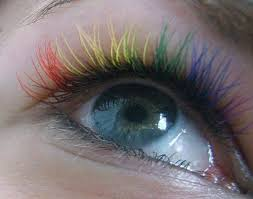 rainbow eyelashes for renew eye makeup