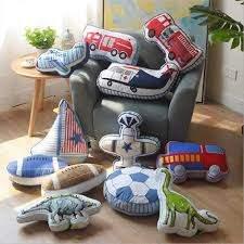 Lovely Cartoon Animals Dinosaur Sailboat Shape Cushion Pillow Kids Bed Room Decor Calm Sleep Dolls Nordic Boys Love Photo Props Pillow Kids Dinosaur Cushionkids Cushions Aliexpress