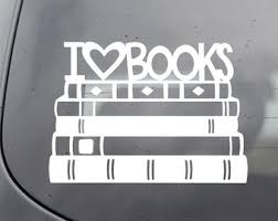 Book Decal Etsy