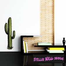 Cactus Wall Decal Wall Fabric Repositionable Decal Vinyl Car Sticker Usc001