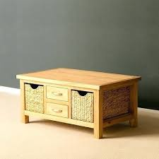 storage table with baskets products oak