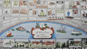1942 New Orleans La Vieux Carre Map Poster Myra Barnes | #1831966651
