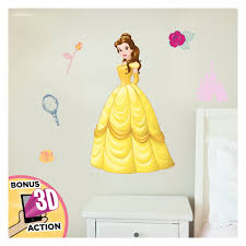 Disney Princess Wall Decals Belle Beauty And The Beast Disney Wall Decals With 3d Augmented Reality Interaction Princess Wall Decals For Girls Bedroom Princess Room Decor Walmart Com Walmart Com
