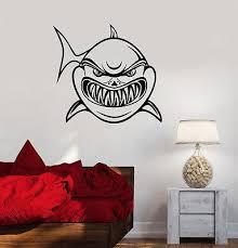 Wall Sticker Vinyl Decal Bathroom Shark Jaws Predator Ocean Sea Decor Wallstickers4you