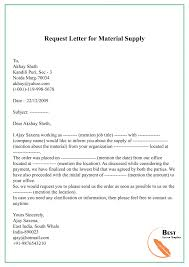 request letter template for materials