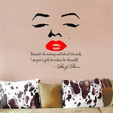 Ebay Hot Marilyn Monroe Face Red Lip Inspirational Quotes Wall Stickers Girl Home Decor 8002 Vinyl Decal Bed Room Mural Art 4 0 Inspiration Home Decor Olivia Decor Decor For Your Home And Office