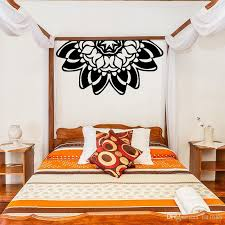 Diy Newest Creative Lotus Headboard Wall Vinyl Decal Mandala Mehndi Decorate Bedside Wall Sticker Bedroom Wall Yoga Studio Mural Home Decor Wall Sticker Art Decor Wall Sticker Cheap From Fst1688 28 3 Dhgate Com