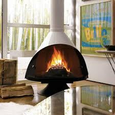 sleek freestanding fireplaces designed