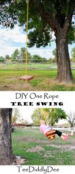 diy one rope tree swing outdoor