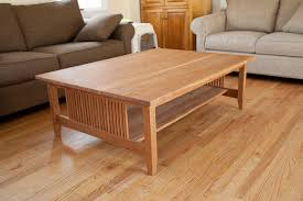 craftsman style coffee table in cherry