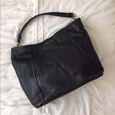 cole haan bags black leather hobo bag