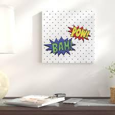 East Urban Home Pow And Bam Graphic Art Print On Canvas Wayfair