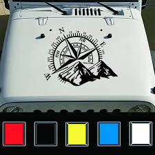 Car Stickers Art Design Vinyl Mountains Nswe Compass Navigate Car Offroad Hood Sticker Decal Auto Fashion Decoration For Jeep Car Stickers Aliexpress