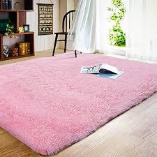 Joyfeel Soft Bedroom Rugs Girls Pink 4 X6 Shaggy Fluffy Floor Area Cabbelli Fashion