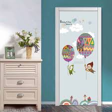 77x200cm Colorful Balloon Door Decor Stickers For Kids Room Bedroom Cartoon Pvc Door Poster Self Adhesvie Wallpaper Diy Murals Door Stickers Aliexpress