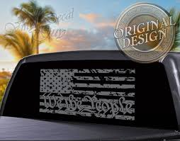 We The People Distressed Flag Decal Solid Text American Flag Decal Car Truck Window Decal Patriotic Sticker Gift For Him American Flag Decal Window Decals We The People
