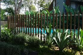Timber Batten Pool Fence Detail Formedgardens Pool Landscaping Pool Fence Fence Landscaping