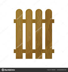 Natural Wooden Fence From Individual Planks Isolated Fence Against White Background In Cardboard Style Vector Illustration Stock Vector C Zsmart 190022266