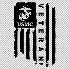 Distressed Usmc United States Marine Corps Flag Veteran Decal Etsy