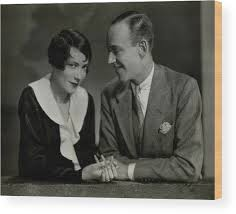 Fred And Adele Astaire Wood Print by Nickolas Muray