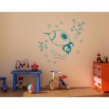 Little Space Explorer Set With Spaceship Stars And Asteroids Wall Decal Wall Sticker Vinyl Wall Art Home Decor Wall Mural 3714 Brown 24in X 23in Walmart Com