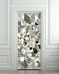 Door Wall Sticker Poster Diamond Shimmer Shine Bling Rhinestone Cover Film 30x79 77x200 Cm Cool Walls Door Stickers Door Murals
