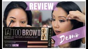 maybelline l off brow tattoo review