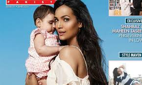 Aamina Sheikh Poses With Daughter Meissa Mirza For Hello Pakistan ...