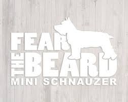 Schnauzer Car Decal Etsy