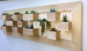 solid maple succulent wall planter