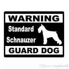 2020 14 10 6cm Creative Car Stickers Warning Standard Schnauzer Guard Dog Vinyl Decal Car Sticker Black Silver Ca 1191 From Zhangchao188 0 96 Dhgate Com