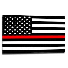 Thin Red Line American Flag Sticker Thin Blue Line Usa