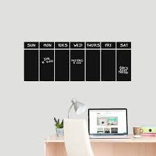This Week Chalkboard Calendar Wall Decal Organizing Schedule Calendar For Sale Online