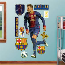 Fat Head Wall Graphics Fc Barcelona Gerard Pique Wall Decal Sticker 39 X 77in Fitness Sports Fan Shop Tailgating Outdoor Outdoors Tailgating