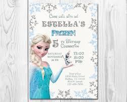 Frozen Birthday Invitation Elsa Anna Olaf Invitation Printable