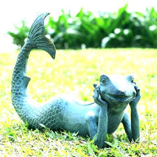 garden statues concrete mermaid statue