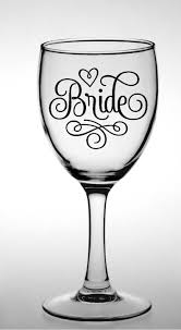 Bride Wedding Decal Wine Glass Sticker Bride And Groom Vinyl Etsy