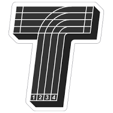 Running Track T Sticker