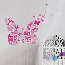 Pink Flutter Butterfly Wall Decals Roommates Decor